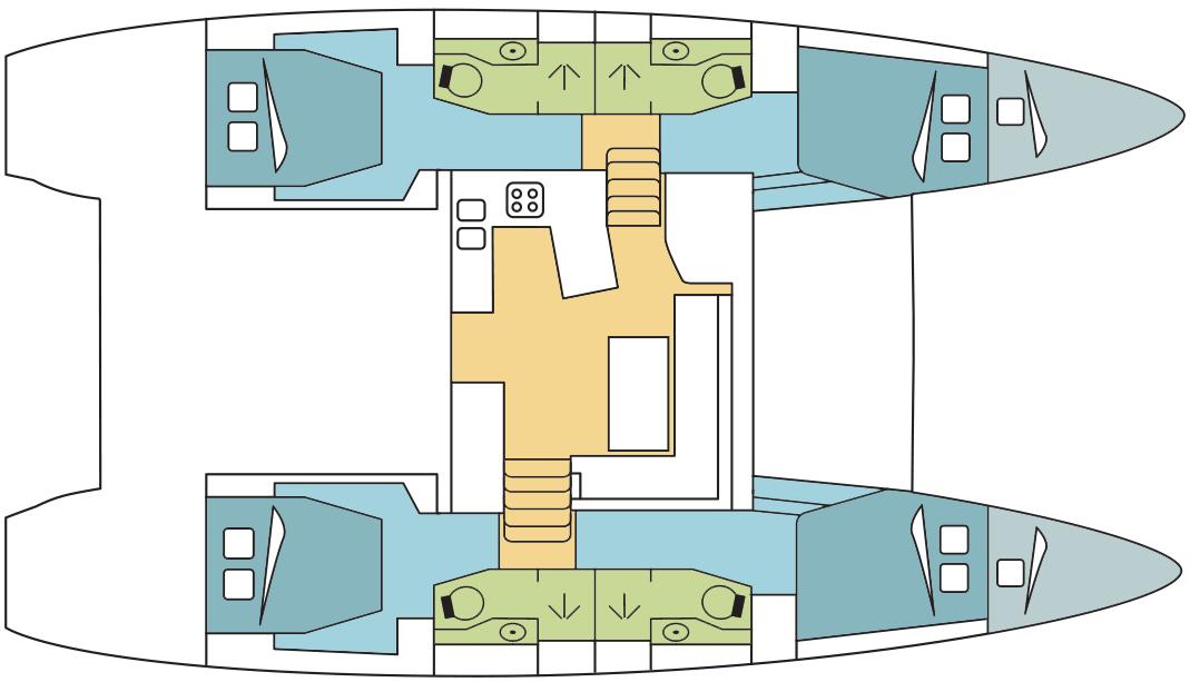 Crociera Sisters Dream 4 Days / 3 Nights - Lagoon 450 Sportop With Watermaker & A/C - PLUS